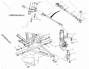 Polaris Atv 2001 Oem Parts Diagram For Aarm  Strut Mounting