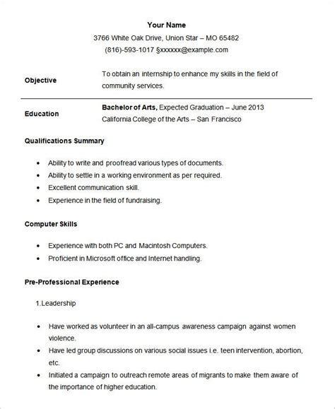 resume format  student student resume