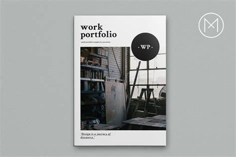 work portfolio template work portfolio brochure templates creative market