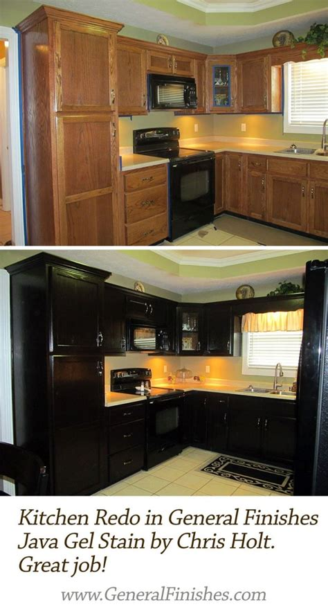 how to use gel stain on kitchen cabinets kitchen makeover with java gel stain java gel stains 9845