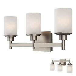 4 Light Brushed Nickel Vanity Fixture by Brushed Nickel 3 Globe Vanity Bath Light Bar Fixture With