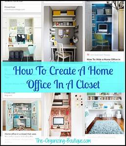 Home Office In A Closet Office Organization Ideas