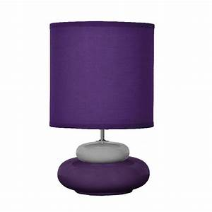 Lampe De Chevet Violet : lampe d co lampe de chevet couleur violet prune et gris lili ~ Teatrodelosmanantiales.com Idées de Décoration