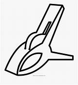 Clothespin Transparent Coloring Clipartkey sketch template