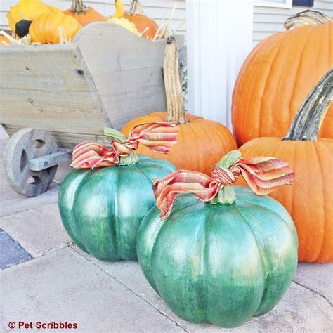 diy pumpkins fall decor diy metallic pumpkins