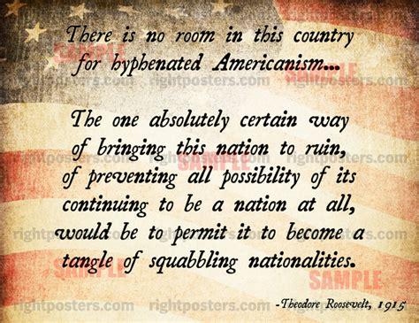 teddy roosevelt quotes  immigration quotesgram