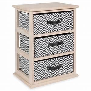 Petit Meuble à Tiroirs : petit meuble 3 tiroirs en bois h 50 cm ikat maisons du monde ~ Teatrodelosmanantiales.com Idées de Décoration