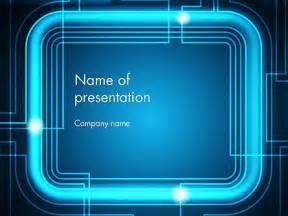 neon powerpoint template neon frame abstract powerpoint