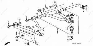 Honda Atv 2008 Oem Parts Diagram For Front Arm