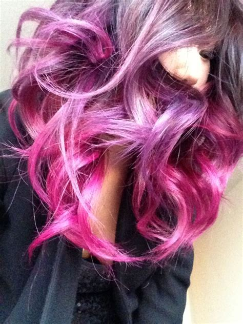 Pink Purple Ombre Hair Hair Pinterest
