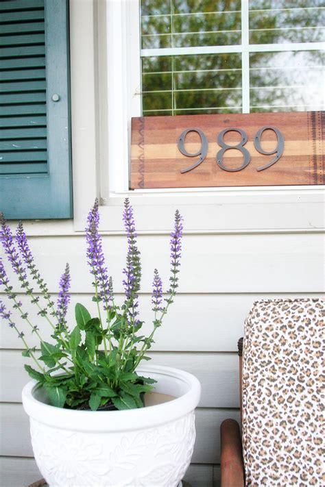 diy house number sign  minutes