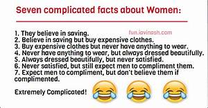Seven complicated facts about Women #Funny | fun.iavinash.com