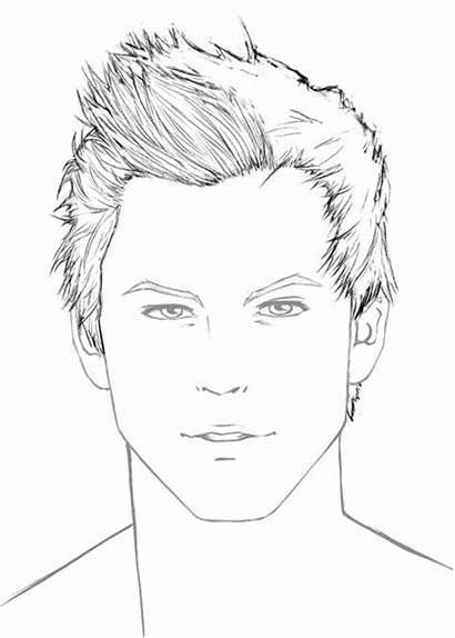 Hair Draw Male Drawing Portrait Drawings Step