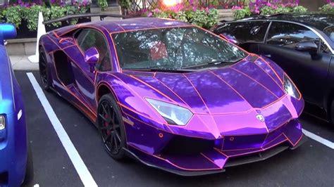 lamborghini dark purple epic chrome purple lamborghini aventador by lb performance