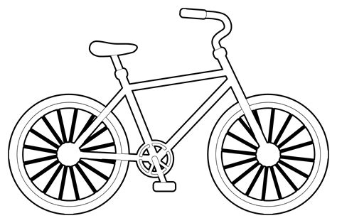 Bike Clipart Coloring  Pencil And In Color Bike Clipart