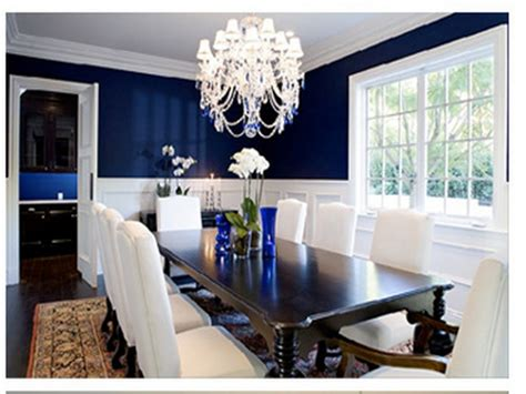 Navy Dining Room, Navy Blue Room With Chair Rail White And