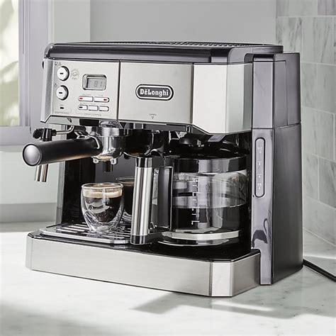 espresso maschine delonghi de longhi combination coffee espresso machine reviews crate and barrel