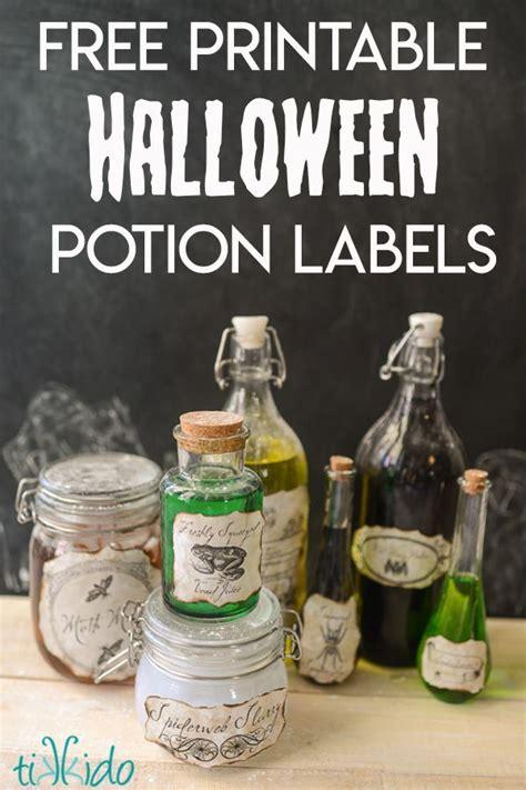 creepy potions bottles   printable labels