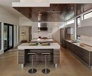 Soffit ceiling ideas kitchen contemporary with marble ...