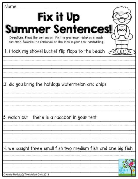 summer review packets  grade writing kindergarten