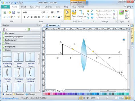 optics drawing software  examples  templates