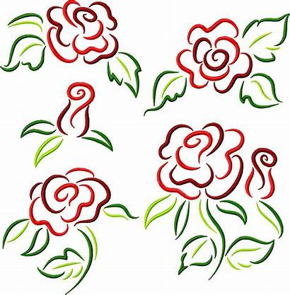 Rose Doodles Embroidery Designs Advanced