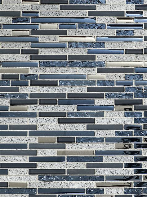 Blue Gray Color Glass Quartz Mosaic Tile   Backsplash.com