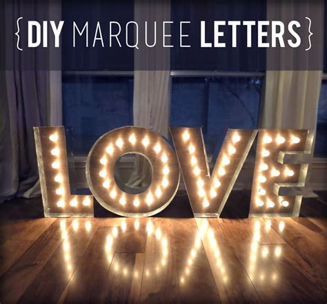 makin loooooove complete diy marquee letters evan