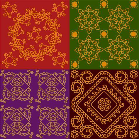 colorful henna colorful indian henna mandala pattern 14