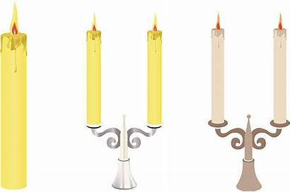 Candle Dinner Clip Vector Illustrations Cartoons