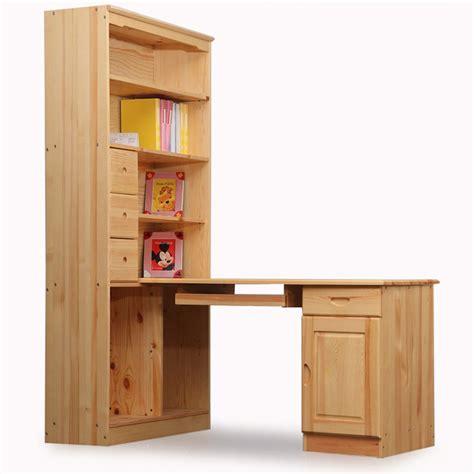 corner desk with bookshelf pine solid wood corner computer table one piece desk solid