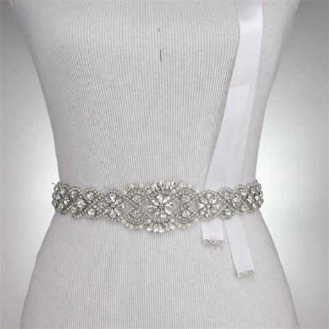 crystal sash 36 quot l bridal belt rhinestone crystal belt