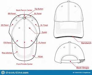 Baseball Cap Vector   Composition Stock Illustration