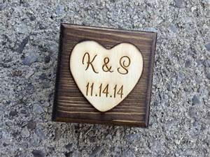 Wood Engraved Ring Box For Ring Bearer Or Personalized ...
