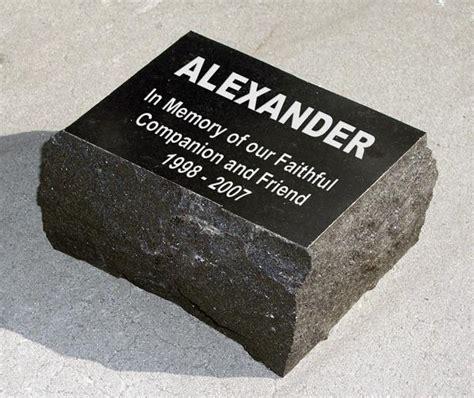 custom engraved black granite headstone plaque text only