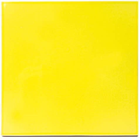 carrelage jaune brillant