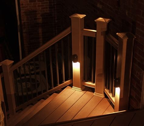 deck railing lights ideas deck lighting ideas to get romantic warm and cozy atmosphere homestylediary com