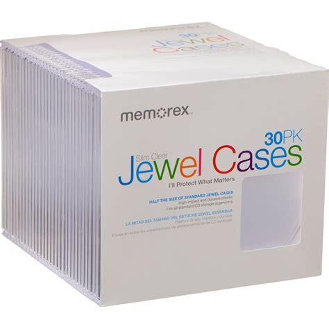 jewel case memorex cd dvd slim clear 30 pack 01931 b h photo