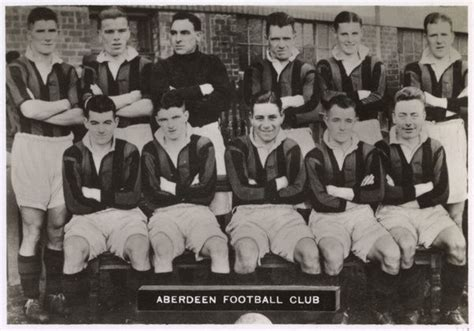 Aberdeen FC football team 1936. Back row: Cooper, Thomson ...
