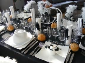 deco anniversaire noir et blanc d 233 co de table th 232 me noir et blanc a toute saveur