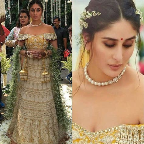 Kareena kapoor khan snapped at airport in an embellished jacket and… indian bollywood actress. Did you know Kareena Kapoor Khan's wedding dress in Veere ...
