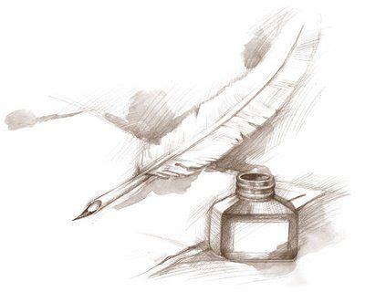 encrier  plume doie volombor tatouages livres