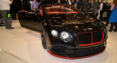 monster bentley continental gt shows   watt system  ces carscoops