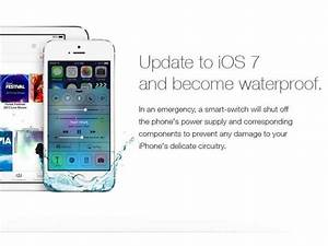 Fake iOS 7 Ad Promising A waterproof device Destroys ...