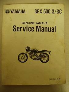 Purchase Yamaha Srx600 Service Manual Motorcycle In