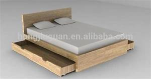 Latest Design Wooden Double Bed With Box - Buy Wood Double ...