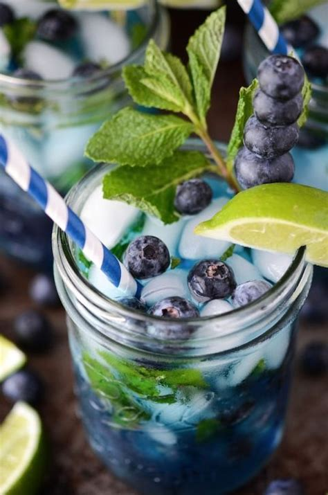 blueberry mojito  cup fresh blueberries  extra