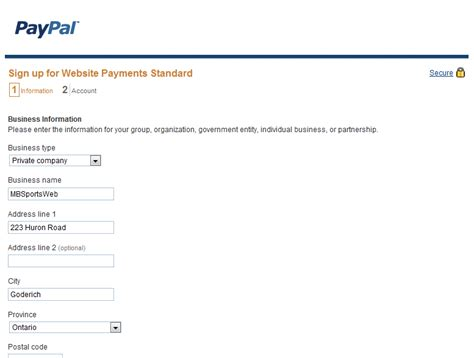 paypal sign up form how to integrate paypal with an online form mbsportsweb