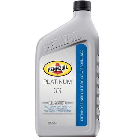 Cvt Fluid by Pennzoil Platinum Cvt 2 Fluid 6 1 Quart Comolube
