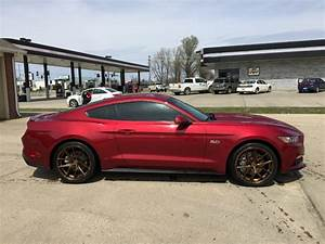 ruby red ford mustang gt avant garde m580 matte antique bronze concave wheels | PK Auto Design